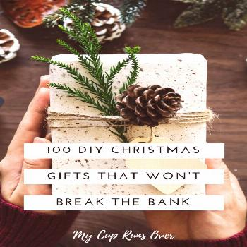 100 unique DIY Christmas gift ideas. Handmade gifts are my favourite to give, they're unique, cre