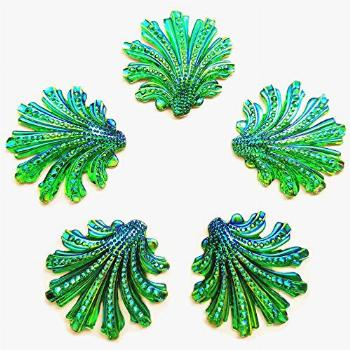15 inch Sparkly Buttons Big Leaf Shape AB Color Sew On