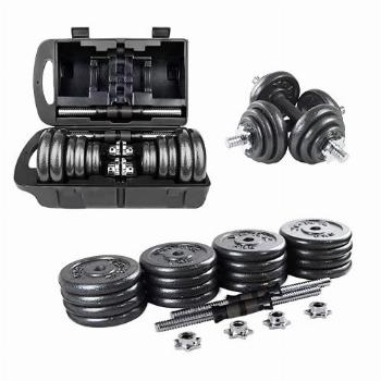 Adjustable Dumbbells 44 lbs Home Weight Lifting Professional