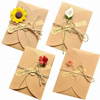 AECIH Flower Thank You Card 12 Pack All Occasion Greeting