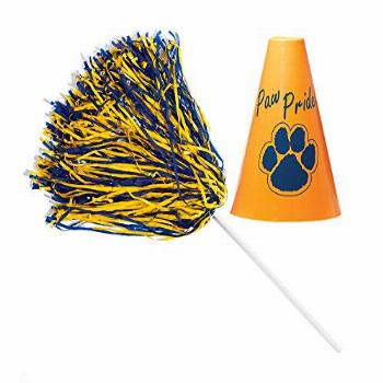 Anderson's Blue and Gold Poms and Paw Pride Megaphone Set,