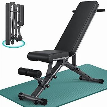 BARWING Adjustable Bench- 800lbs Folding Weight Bench 5-in-1