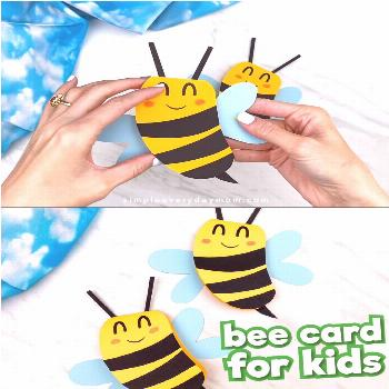 Bee Craft For Kids  This bee card craft for kids is a fun homemade card that's great to use for Mot
