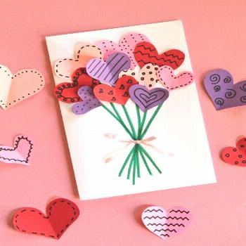 Bouquet of Hearts Card for Valentine's Day | Make and Takes -     For holidays and birthdays, homem
