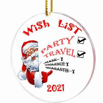 Christmas Ornament 2021 Wish List, Personalized Homemade