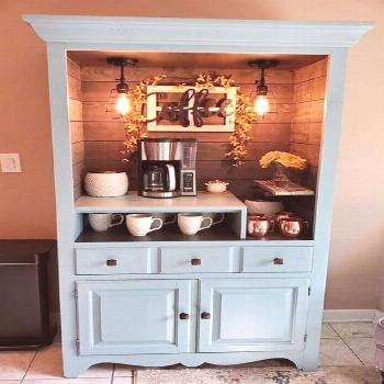 Coffee Bar Ideas With Repurposed Furniture - Things To Do With an Old Chest Of Drawers -