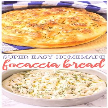 Crisp yet fluffy bread topped with delicious herbs and seasonings. This flavorful focaccia bread is