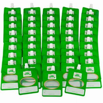 Disposable 6oz Baby Food Storage Pouch Containers, 48 Pack-