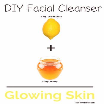 DIY Facial Cleanser - Natural homemade facial cleanser to moisturize and soften your dry, sensitive