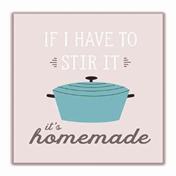 Funny 'It's Homemade' Retro Kitchen Wall Art Sign -