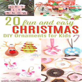 Get ready for the Holidays with this list of fun and easy DIY Christmas Ornaments for kids. These g