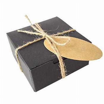 Gold Fortune 50PCS Square Kraft Paper Wrapping Boxes With