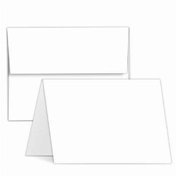 Greeting Cards Set – 5x7 Blank White Cardstock and