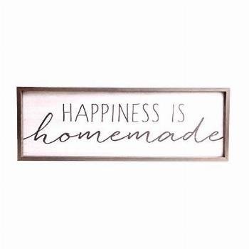 Happiness is Homemade Rustic Wood Framed Wall Art Décor,