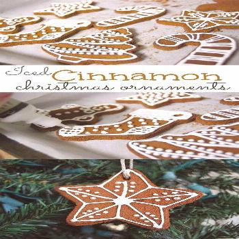 Heavenly Scented Cinnamon Ornaments. These heavenly scented cinnamon ornaments are lovely hanging f