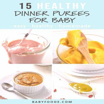 Here are 15 Dinner Purees for Baby that will leave your little one full and satisfied. Loaded with