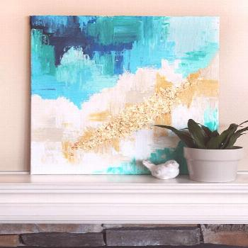 Hi, it's Ashley from Star and Arrow Designs! I'm so excited to share this DIY art tutorial with