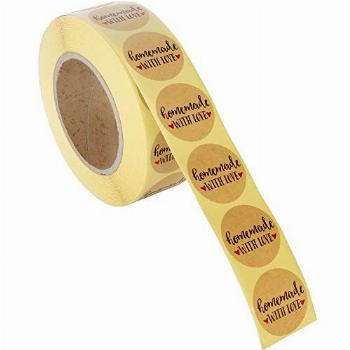Homemade Sticker Labels - 1000-Piece Homemade with Love
