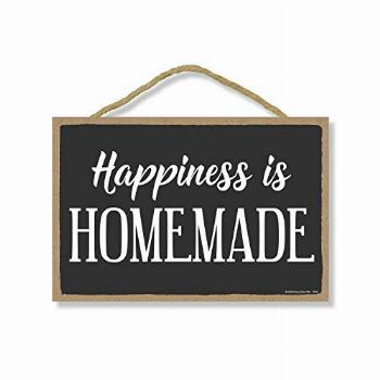 Honey Dew Gifts, Happiness is Homemade, Wooden Home Decor,
