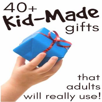 If your kids like making homemade gifts to give to parents, grandparents and teachers at Christmas,