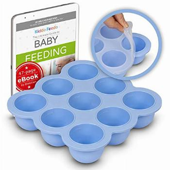 KIDDO FEEDO Freezer Tray with Silicone Clip-on Lid, Making