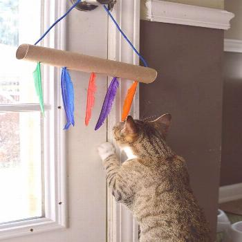 Life and style blogger, The Samantha Show, brings you this easy DIY cat toys tutorial using empty p