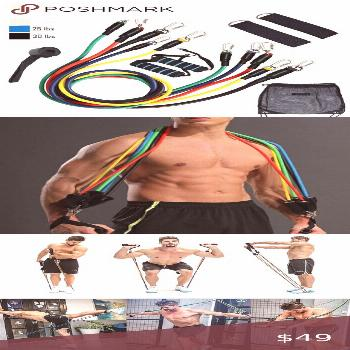 NEW 11pc RESISTANCE BANDs HOME GYM FITNESS SET 11pc RESISTANCE STRETCH BANDZ HOME GYM- QUARANTINE R