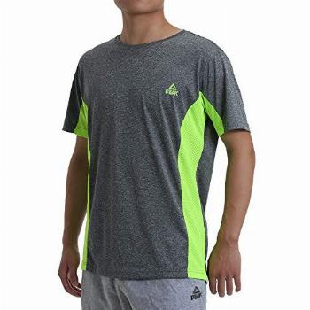 PEAK Men's Quick Dry Short Sleeve T-Shirt for Home Workouts,