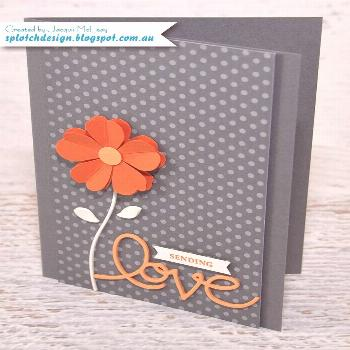 Splotch Design - Jacquii McLeay - Stampin Up: Pansy Punch Mother's Day Card
