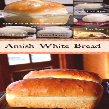 These gorgeous loaves of Amish White Bread are puffy and soft, a little sweeter than my honey butte