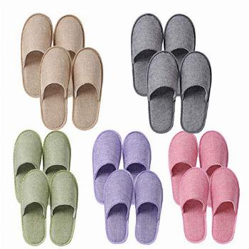 UILB 10 Pairs Disposable Home Slippers for Family Guests
