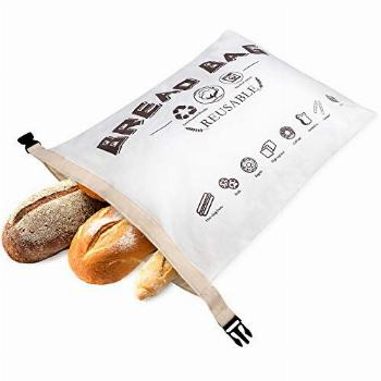 Wantusee Reusable Bread Bags for Homemade Bread, Eco