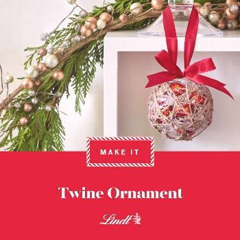 We filled these homemade ornaments with Lindor Milk Chocolate Truffles for a pop of festive colour.