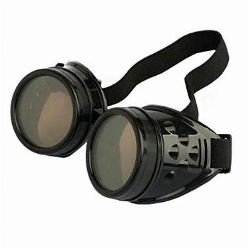 WEICHUAN New Sell Vintage Steampunk Goggles Glasses Cosplay