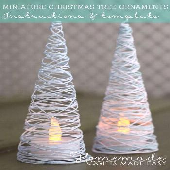 With just a few simple supplies, you can make these Christmas Tree Ornaments for yourself or to giv