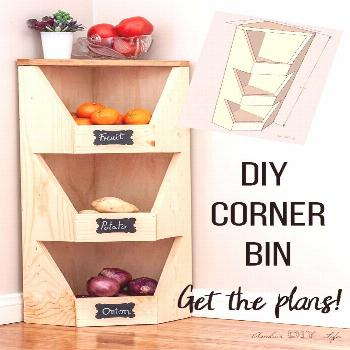 wood projects - Am schönsten        This is perfect for my little kitchen! How do I build a DIY ve