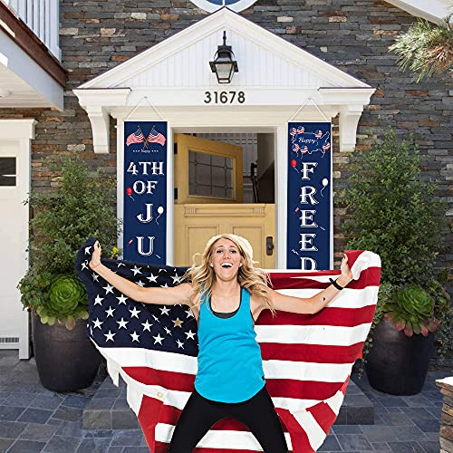 4th of July Decoration Outdoor Porch Sign Banner,