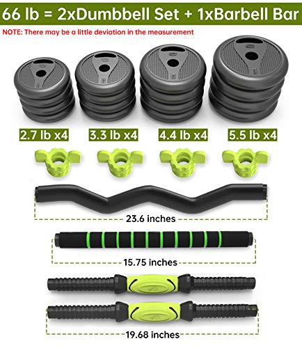 Adjustable Weight Dumbbell 3-in-1 Barbell Home Fitness