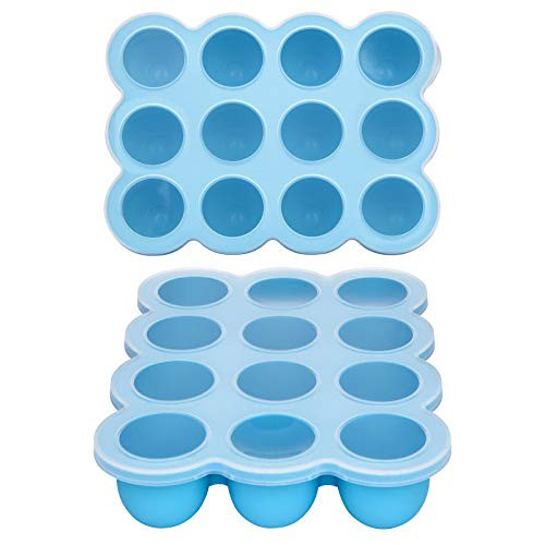 Baby Food Storage Container -12 Cup Silicone Baby Food