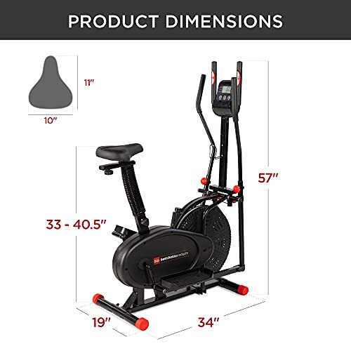Best Choice Products 2-in-1 Elliptical Trainer Exercise