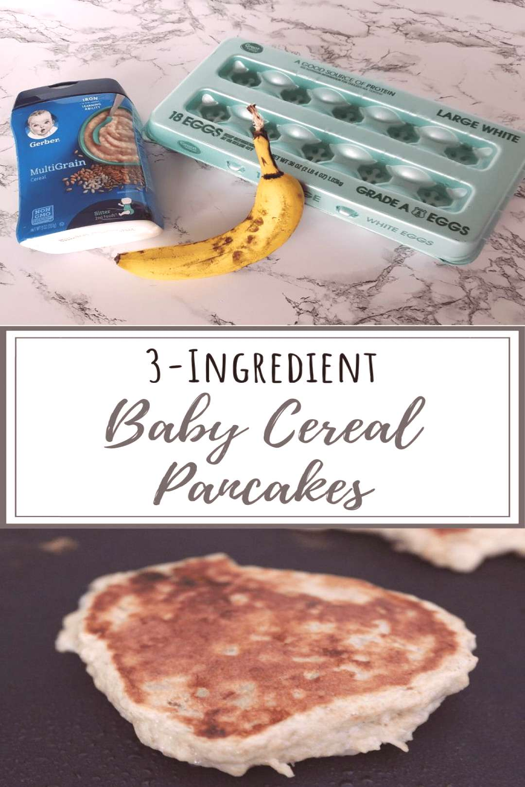 Easy Baby Cereal Pancakes Three-Ingredient Banana and Egg Pancakes These easy baby pancakes are ma