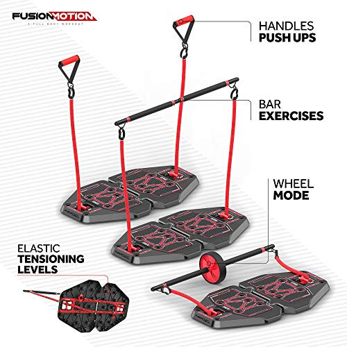 Fusion Motion Portable Gym with 8 Accessories Including
