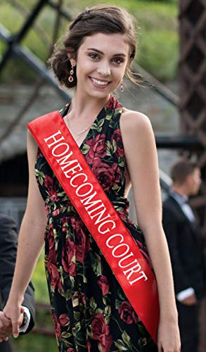 Homecoming Court Sashes, 2 Pack Red Sash with White Imprint