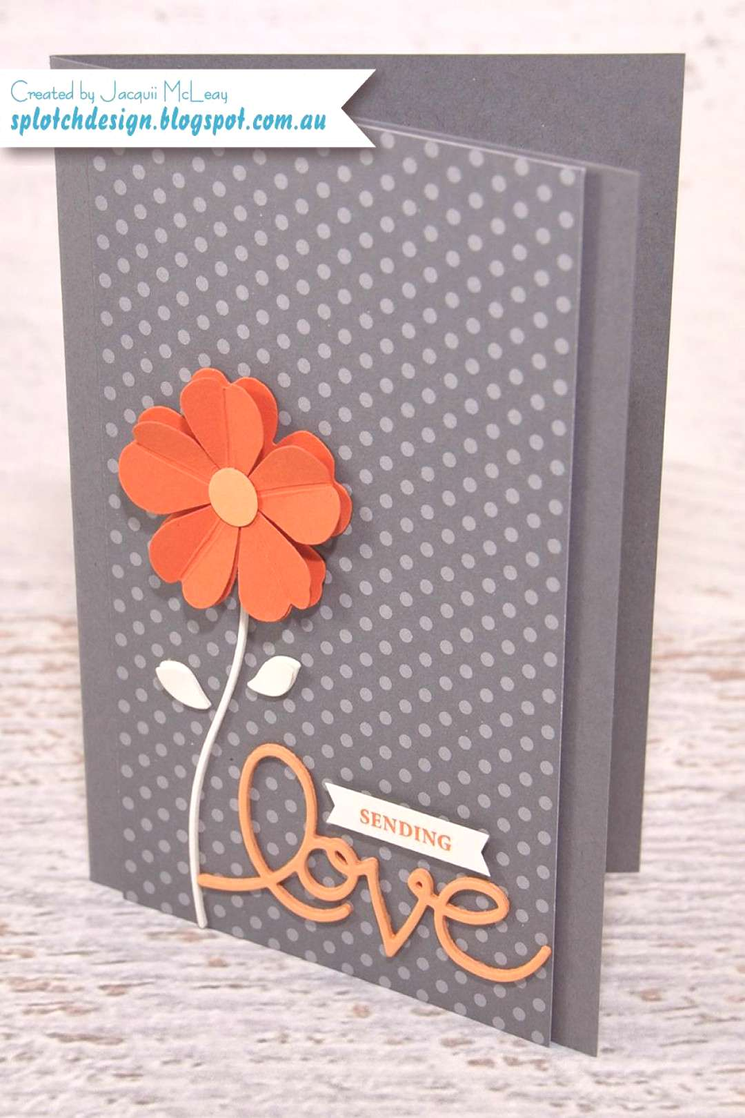 Splotch Design - Jacquii McLeay - Stampin Up Pansy Punch Mothers Day Card