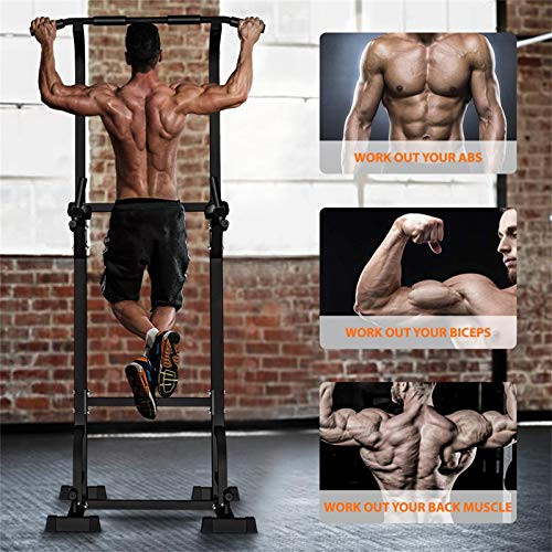 Sportsroyals Power Tower Dip Station Pull Up Bar for Home