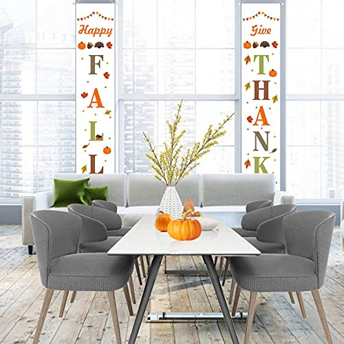 TGOOD Fall Porch Decorations-Happy Fall Yall amp Give Thanks