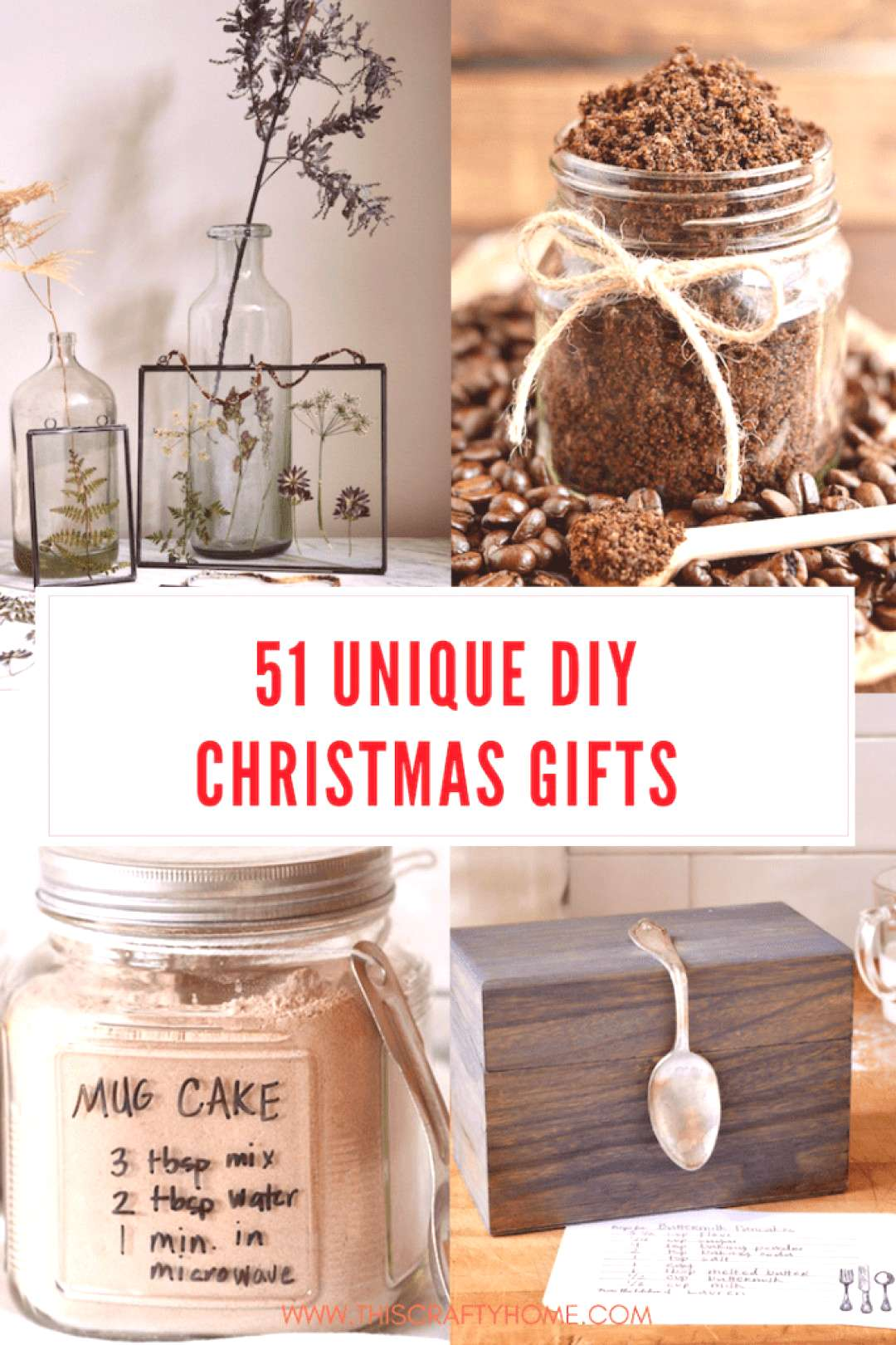 Unique DIY Christmas gifts for all your friends and family! DIY Christmas gifts are a great way to