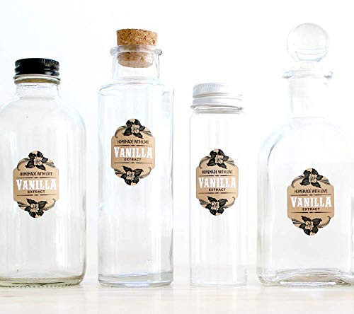Vanilla Extract Labels for bottle 1-ounce or larger - 1.1 x