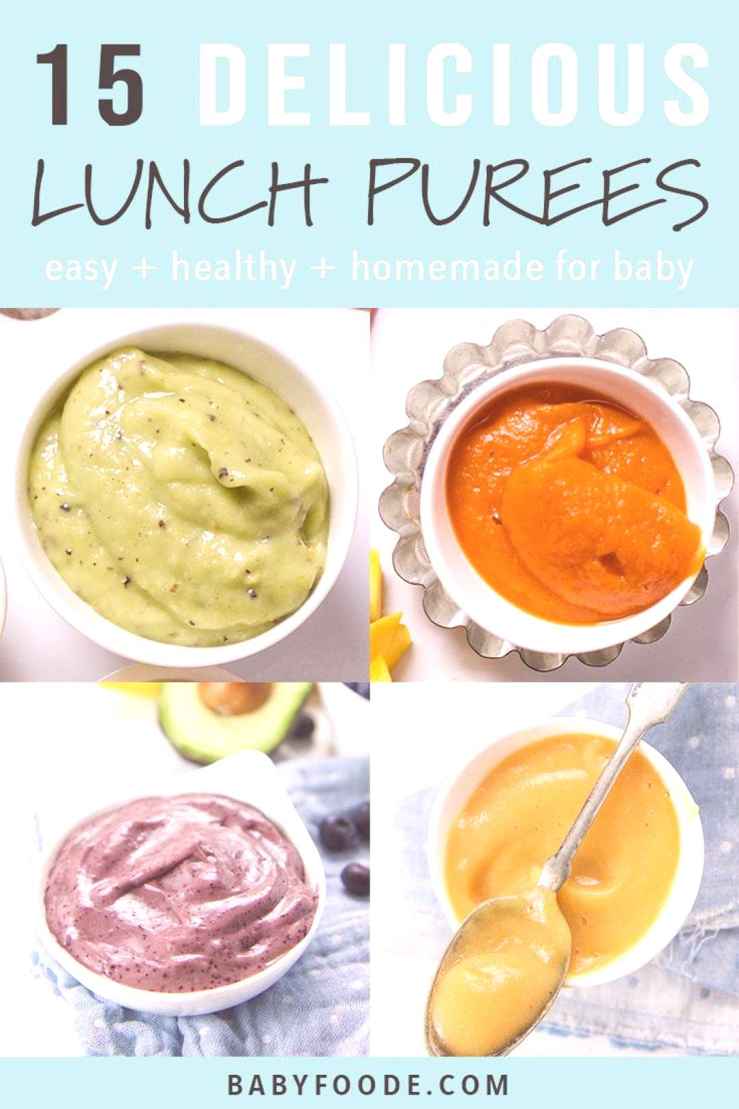 Youll love this collection of 15 easy, healthy, and delicious baby food puress for lunch! These pu